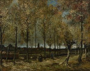 14. Poplars near Nuenen, 1885. Oil on canvas. Museum Boijmans Van Beunigen, Rotterdam.
