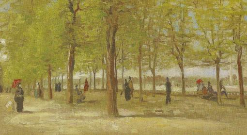 Van Gogh, Terrace in Luxembourg Gardens