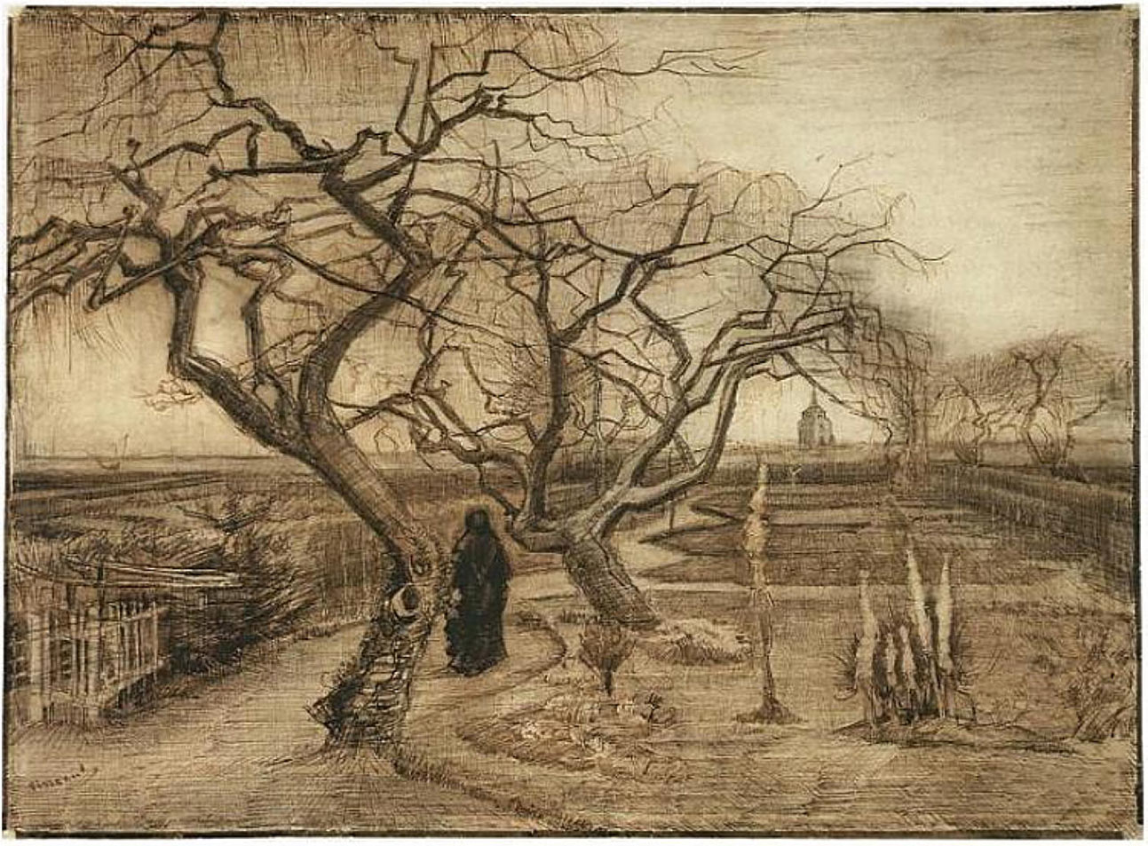 what nature meant to van gogh hidden cause visible effects pencil and ink on paper van gogh museum