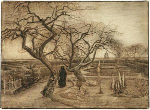 8. Winter Garden. 1884. Pencil and ink on paper. Van Gogh Museum, Amsterdam.