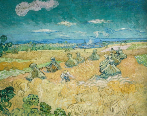 9. Wheatfield with Reaper, Auvres. 1890. Oil on canvas. Toledo Museum of Art.