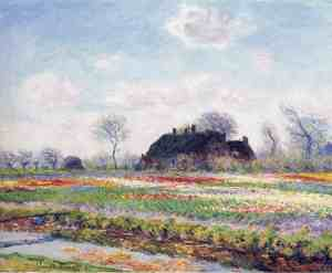 16. Tulip Fields at Sassenheim by Claude Monet. 1886. Oil on canvas. Clark Art Institute, Williamstown, Massachusetts.