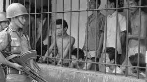 Suspects rounded up by the Army around Jakarta in 1965. (Photo: Bettman/Corbis/AP.)