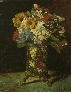 Vase of Flowers by Adolphe Monticelli. ca. 1875. Oil on canvas. Van Gogh Museum, Amsterdam. Not included in Clark show.