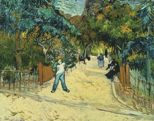 26. Entrance to the Public Gardens in Arles. 1888. Oil on canvas. The Phillips Collection, Washington, D.C.