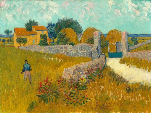 27. Farmhouse in Provence. 1888. Oil on canvas. National Gallery of Art, Washington, D.C.