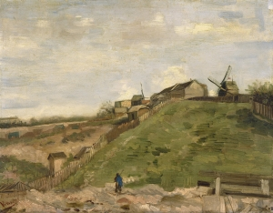18. The Hill of Montmartre with Stone Quarry. 1886. Oil on canvs. Van Gogh Museum, Amsterdam.