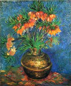24. Impreial Crown Fritillaries in Copper Vase. 1887. Oil on canvas. Musée d'Orsay, ,Paris.