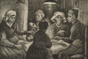 The Potato Eaters. April 1885. Lithograph. Museum of Modern Art, New York City.