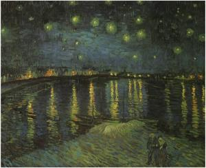 29. Starry Night Over the Rhone. 1888. Oil on canvas. Musée d'Orsay, Paris. Not included in the Clark show.