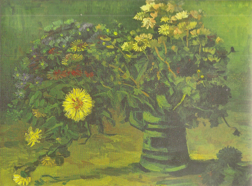 22. Still Life with Bouquet of Daisies. 1885. Oil on canvas. Philadelphia Museum of Art.