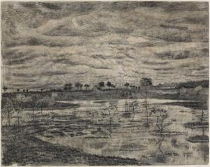 14. The Swamp. 1881. Ink and pencil on paper. Virginia Museum of Fine Art, Richmond.