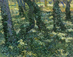 32. Undergrowth. 1889. Oil on canvas. Van Gogh Museum, Amsterdam.