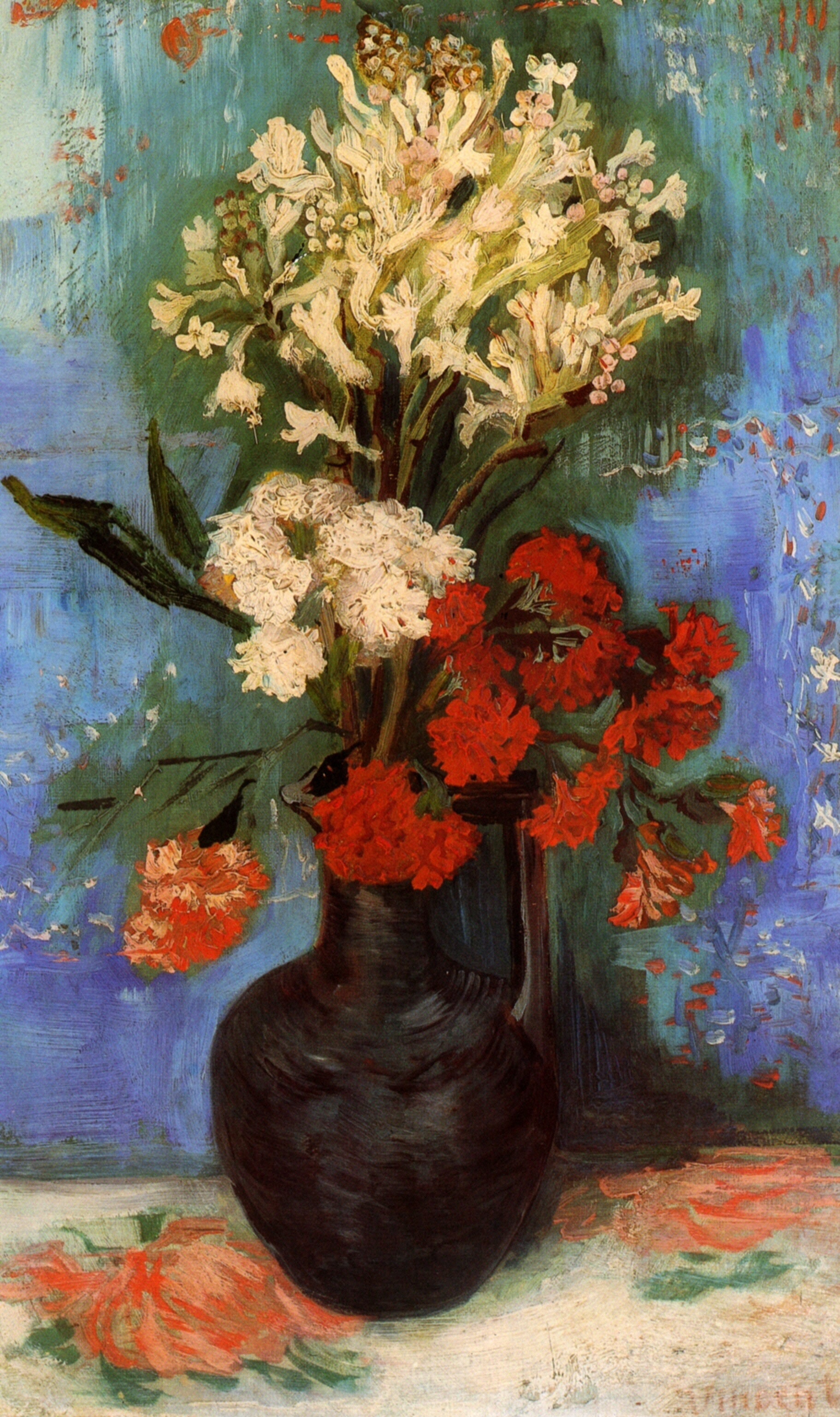 Elisabeth huberta van gogh hidden cause visible effects 23 still life with carnations and other flowers 1886 oil on canvas the reviewsmspy