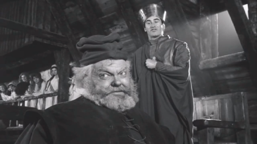 Hal as Henry upbraids Falstaff as Hal for not rejecting Falstaff foreshadows what is in store for Falstaff.