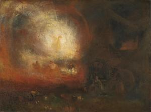 21. The Hero of a Hundred Fights by J.M.W. Turner. Oil on canvas. ca. 1800-10, reworked 1847. Tate, London. (BJ 427.)