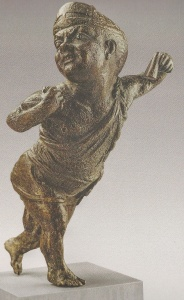 36. Statuette of a Dwarf Dancing. Bronze. Early 1st century B.C.E. Musée National du Bardo, Tunis. Part of cargo of a shipwreck off Mardi, Tunisia possibly in the late 70s B.C.E.