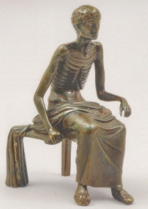 35. Emaciated Youth. Bronze. 1st century B.C.E.-1st century C.E. Dumbarton Oaks, Washington, D.C. Copy of Late Hellenistic original found near Soissons, France.