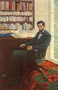 9. Abraham Lincoln's Last Day by Howard Pyle. Oil on canvas. ca. 1907. Present location unknown. (Not part of NBMAA show.)