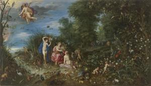 13. Abundance with the Four Elements by Jan Brueghel the Elder. Oil on panel. 1615. Prado, Madrid.