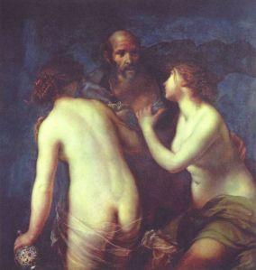 """1. Lot and his Daughters by Francesco Furini. Oil on canvas. ca. 1634. Museo Nacional del Prado (""""Prado""""), Madrid."""