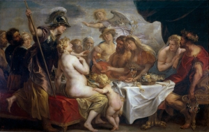 12. Marriage of Peleus and Thetis by Jacob Jordaens. Oil on canvas. 1636-38. Prado, Madrid.