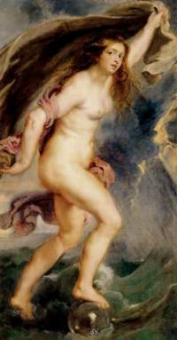 5. Fortuna by Peter Paul Rubens. Oil on canvas. 1636-38. Prado.
