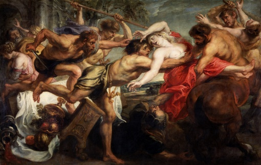 10. Rape of Hippodamia (The Lapiths and the Centaurs) by Peter Paul Rubens. Oil on canvas. 1636–38. Prado, Madrid.