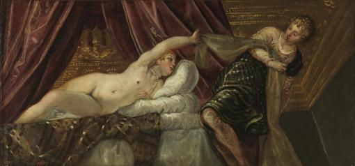 8. Joseph and Potiphar's Wife by Jacopo Tintoretto. Oil on canvas. ca. 1555. Prado, Madrid.