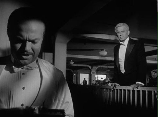 """Leland's recollection (""""Not that Charlie was ever brutal, he just did brutal things.""""). Leland (Joseph Cotten): """"Hello, Charlie. I didn't know we were speaking."""" Kane (Orson Welles): """"Sure we're speaking, Jedediah. You're fired."""""""