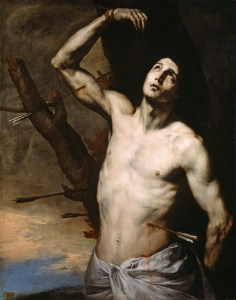 18. Saint Sebastian by Jusepe de Ribera. Oill on canvas. 1636. Prado, Madrid.