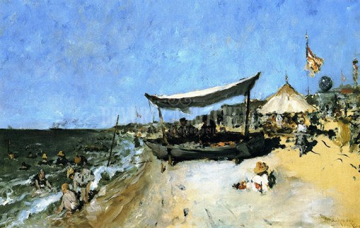 20. At the Shore.  OIL on canvas. ca. 1884. Private collection.