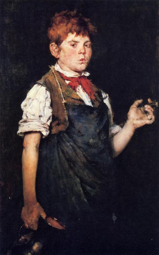 2. Boy Smoking (The Aprrentice). Oil on canvas. 1875. Wadsworth Atheneum, Hartford, Connecticut.