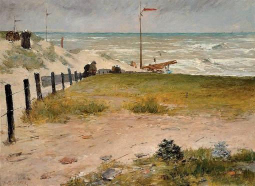 21. Coast of Holland. Oil on canvas. 1884. Frye Art Museum, Seattle, Washington.