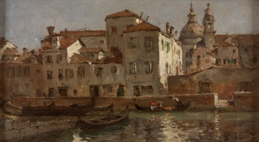 18. In Venice. Oil on canvas. ca. 1877. Rhode4 Island School of Design Museum, Providence, Rhode Island.