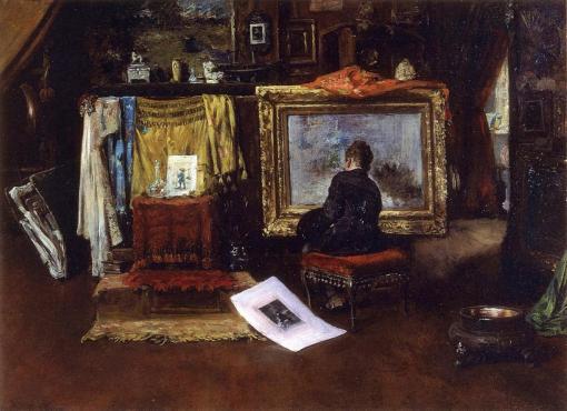 6. The Inner Studio, Tenth Street. Oil on canvas. 1882. Huntington Library and Art Gallery, San Marino, California.