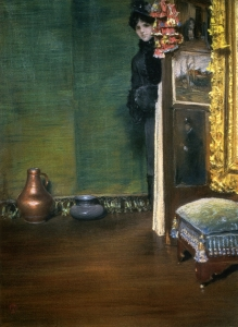 8. May I Come In?. Pastel on canvas. 1886, Collection of W. & E. Clark.