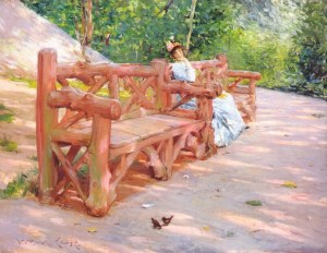 25. Park Bench. Oil on canvas. ca. 1890. Museum of Fine Arts, Boston, Massachusetts.