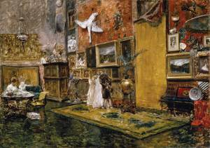 10. Tenth Street Studio. Oil on canvas. ca. 1880-81 and ca. 1910. Carnegie Museum of Art, Pittsburgh, Pennsylvania.