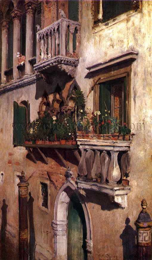 17. Venice.  Oil on canvas. 1877. Oklahoma city Art Museum, Oklahoma City, Oklahoma.