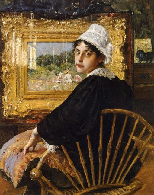 40. An Artist's Wife (A Study). Oil on canvas. 1892. Private collection (Fayez Sarofim).