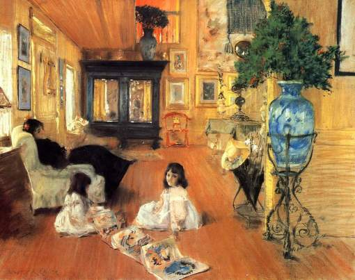 39. Hall at Shinnecock. Pastel on canvas. 1892. Terra Foundation for American Art, Chicago, Illinois.