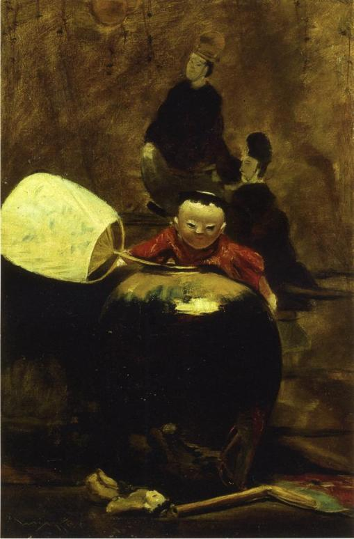 28. The Japanese Doll. Oil on canvas. ca. 1890. Walter & Lucille Rubin collection.