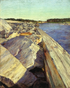 34. The Lone Fisherman. Oil on mahogany panel. ca. 1895. Hood Museum of Art, Dartmouth College, Hanover, New Hampshire.