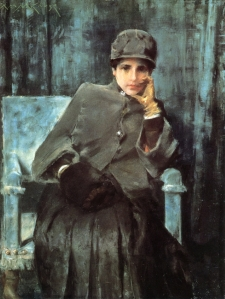 37. Meditation. Pastel on canvas. ca. 1886. Private collection (W. & E. Clark.)