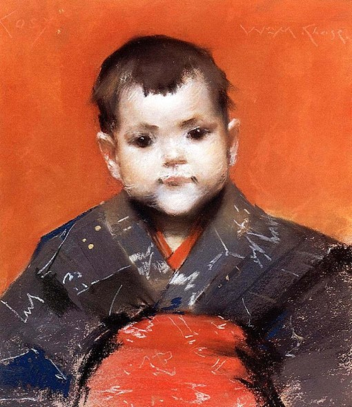 27. My Baby Cosy. Pastel on board. 1888. Private collection.