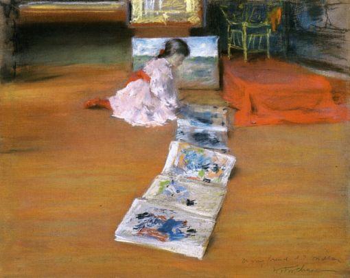 29. Shinnecock Studio Interior. Pastel on paper mounted on canvas. 1892. Terra Foundation for American Art, Chicago, Illinois.