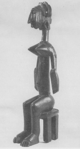 Bambara seated figure