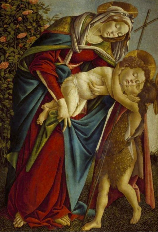 Botticelli, Madonna with Child and Young John the Baptist
