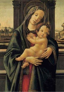 Botticelli, Modonna and Child